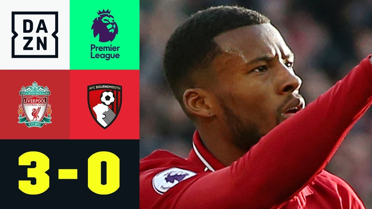 Georginio Wijnaldum - Lupfer- Liverpool - Bournemouth 3:0 | Premier League | DAZN