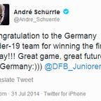 Schürrle gratuliert der U19