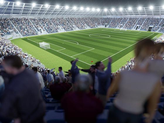 Stadion-Fußball