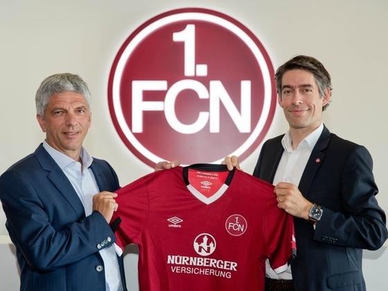 Nürnberger Versicherung wird Haupt- und Trikotsponsor des 1. FC Nürnberg