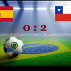 Spanien verliert 0:2 gegen Chile