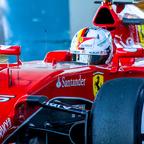 Sebastian Vettel of Scuderia Ferrari F1