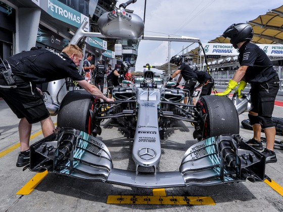 Valtteri-Bottas-Of-Finland SEPANG MALAYSIA  SEPTEMBER 30 2017  The Mercedes team