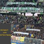 Wolfsburg Fans mit Beleidigung an Braunschweig Fans März 2016