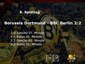 Spieltag Bundesliga Borussia Dortmund gegen Hertha BSC Berlin