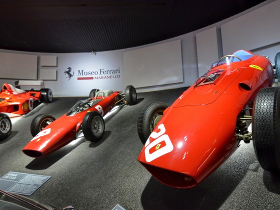At the Ferrari museum, the room where the world-class Formula 1 winning cars are displayed