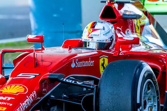 Sebastian Vettel of Scuderia Ferrari F1 - 2015