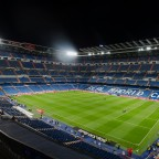 Night view of Santiago Bernabeu stadium