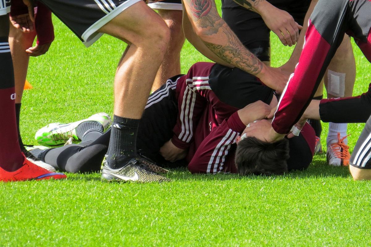 Fussball-Verletzt